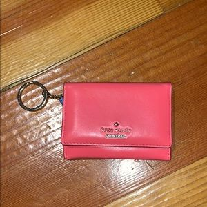 Pink and Blue Kate Spade Keychain Wallet